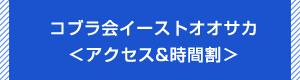 総合格闘技道場コブラ会イーストオオサカアクセス&レッスン時間割へ
